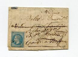 !!! BALLON MONTE DU 26/9/1870 POUR DEAUVILLE, REEXP A CONDE SUR NOIREAU. AVEC TEXTE - War 1870