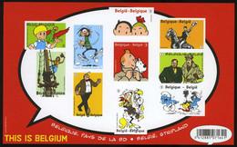 België GCD 10 - 2012 - Stripverhalen - BD - Jommeke - Cor - Gusst Flater - Nero - Kuifje - Tintin - Smurfen - (BL201) - Zwarte/witte Blaadjes