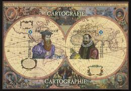 België GCE 1 - 2012 - Cartografie - Cartographie - Mercator - Hondius - (BL199) - Zeldzaam - Rare - Zwarte/witte Blaadjes