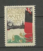 DENMARK Dänemark Danmark 1909 Advertising Stamp Reklamemarke Aarhus Exhibition Ausstellung MNH - Unused Stamps