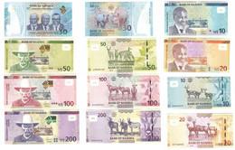 Namibia - Set 6 Banknotes 10 20 30 50 100 200 Dollars 2015 - 2020 ($100 AUNC / UNC ) Lemberg-Zp - Namibië