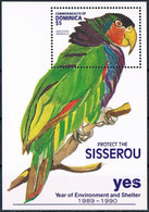 Bloc Sheet Oiseaux Perroquets Birds Parrots   Neuf MNH **  Dominica 1990 - Parrots