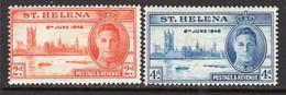 St.Helena GVI 1946 Victory Set Of 2, MNH, SG 141/2 - St. Helena