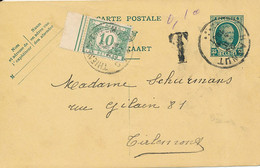 Entier 83 – Hannut 24 II 1931 Vers Tirlemont – Taxé 10 Cent - Postkaarten [1909-34]