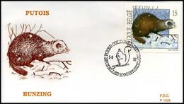 [F7261] 2477 - FDC - Natuur - Kleine Zoogdieren  #1  P1028 - 1991-00