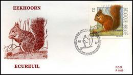 [F7263] 2478 - FDC - Natuur - Kleine Zoogdieren  #3  P1029 - 1991-00