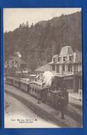 BRUNIG    Bahnhofbuffet     Train     Animées    écrite En 1907 - Other