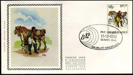2074 - FDC Zijde - Belgica 82  #7 - 1981-90