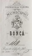 MUNICIPIO DI RONCA' - BELLA LETTERA PER VICENZA IN DATA  6/2/1888 - Versichert