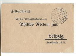 WW1 - Allemange - Militaria - FeldpostBrief. 3 Documents. // LEIPZIG - Wars