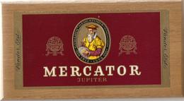 BOITE  EN BOIS DE COLLECTION DE 50 CIGARES MARQUE MERCATOR JUPITER *  225 X 120 X 40 Mm*reste 13 Cigares Bagues Différe. - Cigar Cases