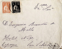 Portugal Carta Franquiada Com Selos Ceres Enviada A Espanha (San Sebastian) - Maschinenstempel (Werbestempel)