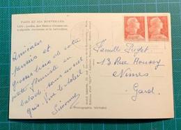 N°1009A 6F Marianne De Muller - Peu Utilisé Sur Carte à12F - - Lettres & Documents