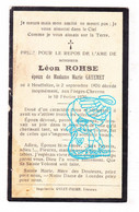 DP Léon Rohse ? Romse ? ° Houffalize 1870 † Les Forges Chevron Stoumont 1930 X Marie Gayemet - Devotieprenten