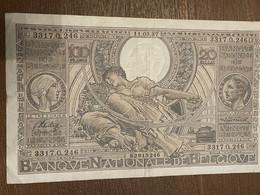 Billet Belge 1937 - 100 Francs & 100 Francs-20 Belgas
