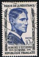 FRANCE : N° 1101 Oblitéré (Héros De La Résistance : Honoré D'Estienne D'Orves) - PRIX FIXE - - Gebruikt