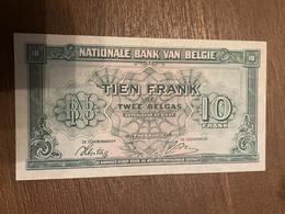 Billet Belge 1943 Parfait état - 10 Francs-2 Belgas