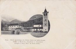 SUSA-TORINO-SCUOLA APOSTOLICADES PETITS CLERES ET SAINT JOSEPH-CARTOLINA NON VIAGGIATA -1906-1910-EDIZIONE FRANCESE - Other