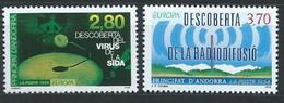 Andorre Français YT 444-445 Neuf Sans Charnière - XX - MNH Europa 1994 - Unused Stamps