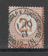 Levant - Bureau Allemand -Michel V29 - Précurseur - Constantinople Cachet Central - Officina: Turquia