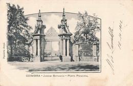 Portugal Coimbra Jardim Botanico Porta Principal Jardin Botanique Rporte Principale Cpa + Timbre Cachet 1902 - Coimbra