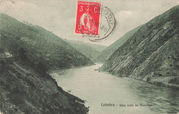 Portugal Coimbra Uma Vista Do Mondego Cpa + Timbre Cachet 1920 - Coimbra