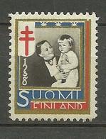 FINLAND FINNLAND 1938 Vignette Noel Christmas Weihnachten Anti Tuberculosis * - Christmas
