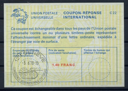 UNO GENF( 64th )CONFERENCE INTERNATIONALE DU TRAVAIL 5.6.78 Reply Coupon Reponse IRC IAS Antwortschein La23A 1,40 FR. - Covers & Documents