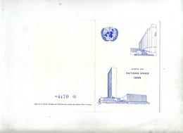 Souvenir Journee Nations Unies Fdc New York  Geneve - Cartas