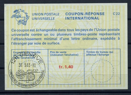 UNO GENF( 67th )CONFERENCE INTERNATIONALE DU TRAVAIL 1.6.81Reply Coupon Reponse IRC IAS Antwortschein La23A fr.1,40 - Covers & Documents