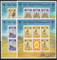 Kenya - 1981 - N°Yv. 195 à 198 -  4 Blocks - Princess Diana - Neuf Luxe ** / MNH / Postfrisch - Kenya (1963-...)