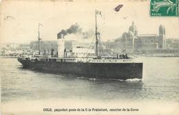 """PAQUEBOT - """"Golo"""" Paquebot Poste De La Cie Fraissinet, Courrier De Corse. - Piroscafi"""