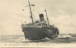 """PAQUEBOT - """"Golo"""" Paquebot Poste De La Cie Fraissinet, Nos Courriers Maritimes. - Piroscafi"""