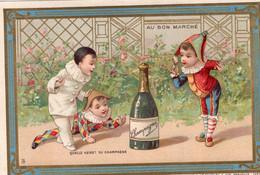 6 Chromos  Serie  Kurkentrekker Tire-bouchon Corkscrew Korkenzieher  Pierrot Harlequin Au Bon Marché  1889 - Wine