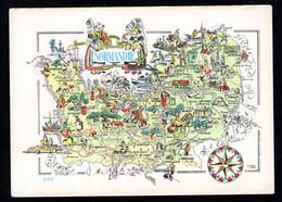 """Carte Géographique """"Région NORMANDIE"""" Le Havre, Deauville, Troarn, Dozulé, Honfleur, Lisieux, Mézidon, Pont-Audemer - Maps"""
