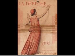 CAL040 .1902  MONITEUR   PUY DE DOME. POUR  La Republique    LITHO.  MONT LOUS .CALENDRIER   ALMANACH  . .¨. - Big : ...-1900