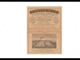 CAL046    .1880    USINE ALEXANDRE  JAILLE  AGEN  .CALENDRIER  BELLES DORURES  . .Ouvert : 33 X 13 Cm. - Big : ...-1900
