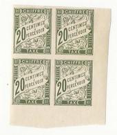 Taxe Colonies Générales N°21 - Neufs, Bloc De 4 - Taxes