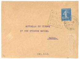 ORLEANS R. DE BOURGOGNE LOIRET  1926 Daguin Double Cercle  : 5e FOIRE EXPOSITION 4 - 13 JUIN - Sellados Mecánicos (Publicitario)