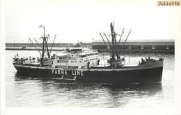 """PAQUEBOT - """"Joliette"""" De La Cie Fabre Line. Carte Photo Baudelaire Marseille. - Steamers"""