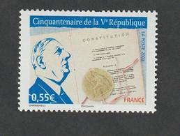 TIMBRE -  2008  - N° 4282 -   Cinquantenaire De La V éme République    -    Neuf Sans Charnière - Unused Stamps