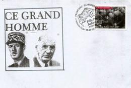 """ANDORRA. 50 Ans De La Visite Officielle Général De Gaulle En Andorre (Octobre 1967), Lettre FDC, Serie """"Ce Grand Homme"""" - De Gaulle (Generaal)"""
