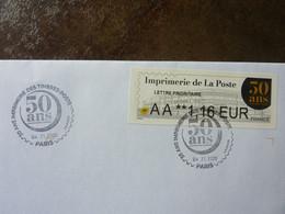 2020  50 Ans De L'Imprimerie De La Poste  Oblitéré Sur Enveloppe Parfait état - 2010-... Illustrated Franking Labels