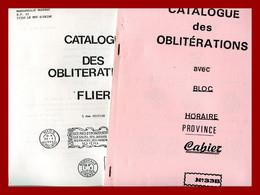 """4 Catalogues Des """" Oblitérations Mécaniques Et Manuelles France Hors Paris""""  RBV - Krag - Flier- Bloc Horaire - Maschinenstempel (Sonstige)"""