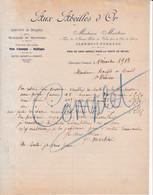 """63 CLERMONT FERRAND  Spécialité De Dragées Pates De Fruits D' Auvergne  """" Aux Abeilles D' Or """" MARTINI - X94 Puy De Dome - 1900 – 1949"""