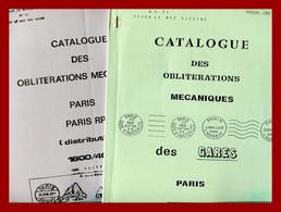 """9 Catalogues  """"  Paris-oblitérations Mécaniques  """"  RBV - Krag - Flier- Drapeaux - Gares - Paris RP - Distribution - Maschinenstempel (Sonstige)"""