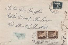 2010 - Busta ASSICURATA  Con Testo Del 9 Maggio 1942 Da Civate (Como)  A Milano - Versichert