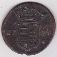 Hongrie 10 Poltura 1705 François Rackoczy II Insurrection, En Cuivre. KM# 264 - Hungary
