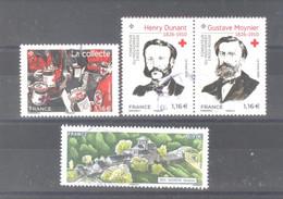 """France Oblitérés : Les 3 Timbres Du Bloc """"Croix Rouge 2020"""" & Bédène (cachet Rond) - Used Stamps"""
