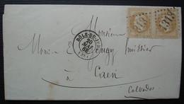 Dole Du Jura GC 1313 Sur Paire De 10 Cent, J Bompy Huissier, En Tête Avec Blason à Voir - 1849-1876: Periodo Classico
